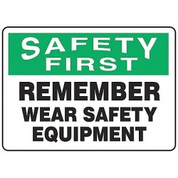 Accuform Signs - MPPE913VA - Info Sign Wear Safety Equipment 10x14 Aluminum Ansi Z535.2 - 1998 Accuform Mfg Inc, Ea