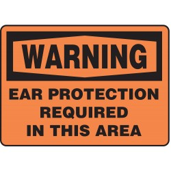 Accuform Signs - MPPE312VP - Warning Sign Ear Protection Required 7x10 Plastic Ansi Z535.2 - 1998 Accuform Mfg Inc, Ea