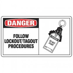 Accuform Signs - MLKT002VP - Danger Security Sign, 7 x 10In, PLSTC, ENG