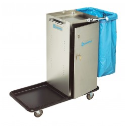 Geerpres - 3651 - Housekeeping Cart, Stainless Steel