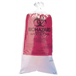Bel-Art - F13161-0009 - Biohazard Bag Red 24 In Wx36 In L Biohazard Symbol Autoclavable .03 Mils 100 Pkg Qty High Density Polyethylene Bel-art Products, 100/bx