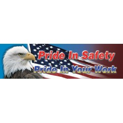 Accuform Signs - MBR880 - Accuform Signs 28' X 8' Vinyl Safety Banner 'PRIDE IN SAFETY PRIDE IN YOUR WORK', ( Each )