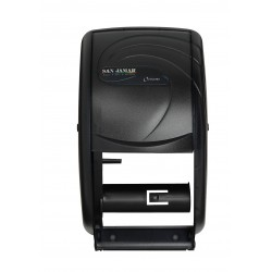 San Jamar - R3590TBKGR - Toilet Tissue Dispenser, Vertical, Black