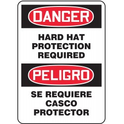 Accuform Signs - SBMPPE117VA - Danger Sign, 14 x 10In, R and BK/WHT, AL