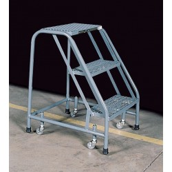 Cotterman - 1003N2630A1E10B3C1P6 - Steel Rolling Step, 30 Overall Height, 450 lb. Load Capacity, Number of Steps: 3