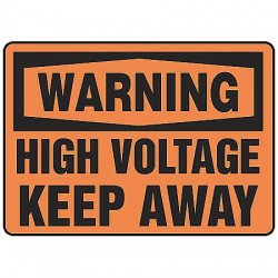 Accuform Signs - MELC323VP - Warning Sign High Voltage 7x10 Plastic Accuform Mfg Inc, Ea
