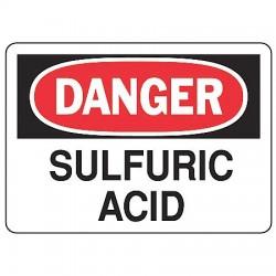 Accuform Signs - MCHL077VP - Danger Sign Sulfuric Acid 7x10 Plastic Regusafe Ansiz535.2-1998 Accuform Mfg Inc, Ea