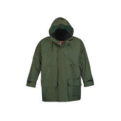 Viking - 2900G-S - Men's Green 150D Rip-Stop Polyester 3-Piece Rainsuit with Hood, Size: S, Fits Chest Size: 34 to 36