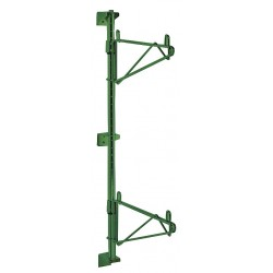 Metro (InterMetro) / Emerson - 1WS18K3 - 1-7/16 x 20-5/8 x 7-7/16 Steel Shelf Support Bracket-Wall/Post Mounting, Green; PK1