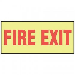 Accuform Signs - MLEX523GF - Exit and Entrance, No Header, Vinyl, 3-1/2 x 10, Adhesive Surface, Not Retroreflective