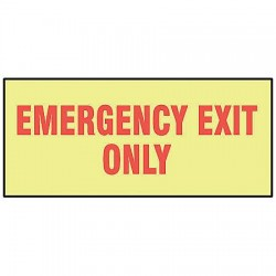 Accuform Signs - MLEX535GF - Exit Sign, 3-1/2 x 10In, R/Glow, ENG, Text