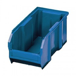Quantum Storage Systems - QUS240BL - Hang and Stack Bin, Blue, 14-3/4 Outside Length, 8-1/4 Outside Width, 7 Outside Height
