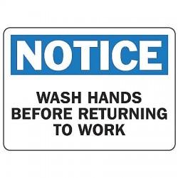 Accuform Signs - MHSK40BVA - Notc Wash Hands 7x10 Al, Ea