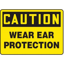 Accuform Signs - MPPA631VS - Caution Sign, 10 x 14In, BK/YEL, ENG, Text