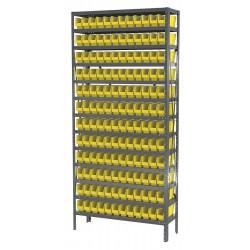 Akro-Mils / Myers Industries - AS1279110Y - Bin Shelving 144 Bin 75x36x12 Akromils 22 Gauge Steel 13 Shelves 350 Pound 129 Pound, Ea