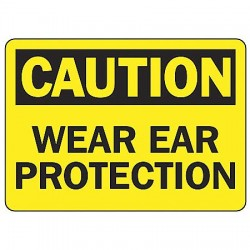 Accuform Signs - MPPE800VS - Caution Sign Wear Ear Protection 7x10 Self Adhesive Regusafe Ansi Z535.2-1998 Accuform Mfg Inc, Ea