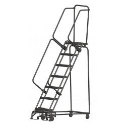Ballymore / Garlin - WA072414P - Garlin Rolling Ladder 7 Step Knock Down 14 In Deep Top Step Perforated Steel Gray, Ea