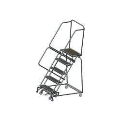 Ballymore / Garlin - WA053214R - 5-Step Slope Lockstep Rolling Ladder, Rubber Mat Step Tread, 83 Overall Height, 450 lb. Load Capaci