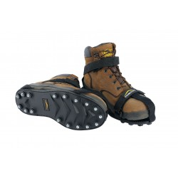 32North - MT STAB - Unisex Strap-on Cleats, Black, Size Men 8-1/2 to 10-1/2 and Women 10 to 12