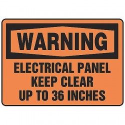 Accuform Signs - MELC309VP - Warning Sign Electrical Panel 7x10 Plastic Ansi Z535.2-1998 Accuform Mfg Inc, Ea