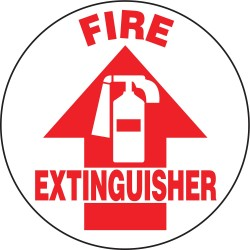 Accuform Signs - MFS721 - Floor Sign Fire Extinguisher 17 In Adhesive, Ea