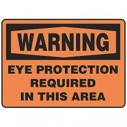 Accuform Signs - MPPA300VS - Warning Sign, 10 x 14In, BK/ORN, ENG, Text