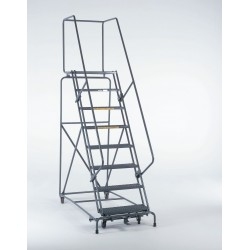 Ballymore / Garlin - 073214GSU - 7-Step Safety Rolling Ladder, Serrated Step Tread, 103 Overall Height, 450 lb. Load Capacity