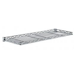 Metro (InterMetro) / Emerson - 1248CSNC - 48 x 12 x 1-1/4 Steel Cantilever Shelf, Silver; PK1