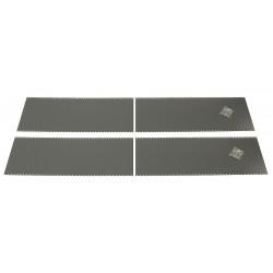 Edsal - 184N - 18 x 49 24 Gauge Steel End Panel, Gray; PK1