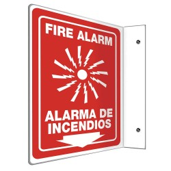Accuform Signs - SBPSP440 - Fire Alarm Sign, 12 x 9In, WHT/R, PLSTC
