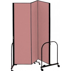 Screenflex - CFSL403 MAUVE - 5 ft. 9 x 4 ft., 3-Panel Portable Room Divider, Mauve