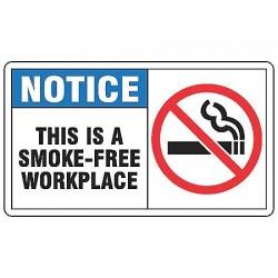 Accuform Signs - MSMK822VP - Notice Sign Smokefree Workplace 7x10 Plastic 29 Cfr 1910.145 Accuform Mfg Inc, Ea