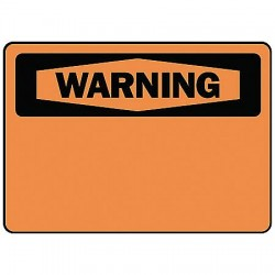Accuform Signs - MRBH327VP - Warning Sign Blank 7x10 Plastic Ansi Z535.2 - 1998 Accuform Mfg Inc, Ea