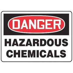 Accuform Signs - MCHD20BVA - Danger Sign Hazardous Chemical 7x10 Aluminum Accuform Mfg Inc, Ea