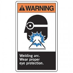 Accuform Signs - MRLD301VP - Warning Sign Welding Arctic 10x7 Plastic Ansi Z535.4 - 1998 Accuform Mfg Inc, Ea