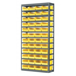 Akro-Mils / Myers Industries - AS1279150Y - Bin Shelving 48 Bin 75x36x12 Akromils 22 Gauge Steel 13 Shelves 350 Pound 121 Pound, Ea