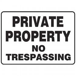 Accuform Signs - MATR518VP - Info Sign Private No Trespassing 7x10 Plastic Accuform Mfg Inc, Ea