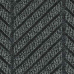 Andersen Company - 2271 BLACK 8X20 - Black Smoke Recycled PET Polyester Fiber, Entrance Runner, 8 ft. Width, 20 ft. Length