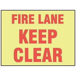 Accuform Signs - MLVH501GF - Fire Lane Sign, 7 x 10In, R/YEL, ENG, Text