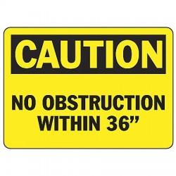Accuform Signs - MVHR675VA - Caution Sign, 10 x 14In, BK/YEL, AL, ENG