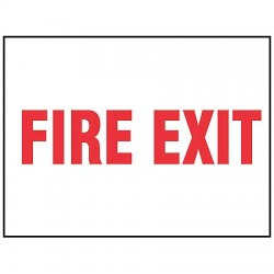 Accuform Signs - MEXT557VA - Sign Fire Exit 7x10 Aluminum Accuform Mfg Inc, Ea