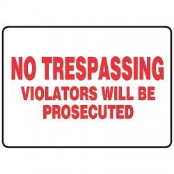 Accuform Signs - MATR528VP - Info Sign No Trespassing 7x10 Plastic Accuform Mfg Inc, Ea