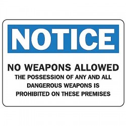 Accuform Signs - MACC801VS - Notice Security Sign, 10 x 14In, ENG, Text