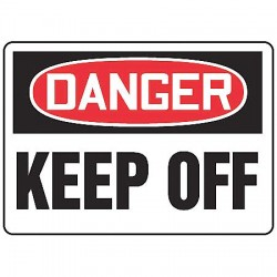 Accuform Signs - MADM058VA - Keep Clear, Danger, Aluminum, 10 x 14, With Mounting Holes, Not Retroreflective