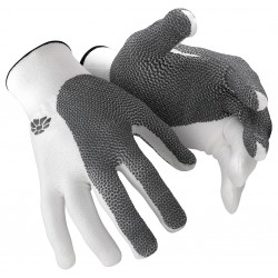 HexArmor - 10-302-S (7) - Cut Resistant Glove, ANSI/ISEA Cut Level 5, HPPE Lining, Gray, White, S, EA 1