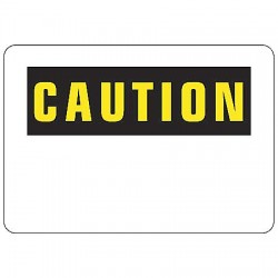Accuform Signs - MRBH606PBPR - Caution Sign Blank Drying Erase 10x14 Polycarbonate, Ea