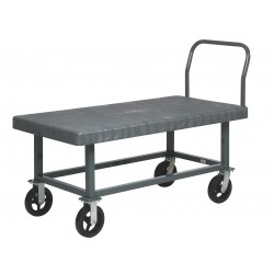 Akro-Mils / Myers Industries - RWHS30601A5M8A - Platform Truck Adjustable Height 1200 Pound 26.25x30x60 Akro-mils Mold On Wheel Steel, Ea