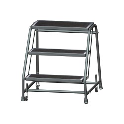 Ballymore / Garlin - 326RSU - 3-Step Rolling Ladder, Rubber Mat Step Tread, 28-1/2 Overall Height, 450 lb. Load Capacity