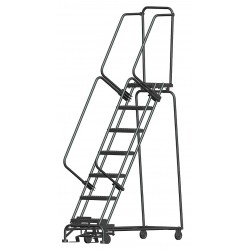 Ballymore / Garlin - WA072414G - Garlin Rolling Ladder 7 Step Knock Down 14 In Deep Top Step Grip Strut Steel Gray, Ea