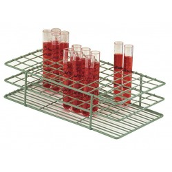 Bel-Art - F18762-0000 - Rack Test Tube Epoxy Coated 18-20mm Tubes 3 3/4 In Hx4 1/4 In Wx9 9/16 In L 40 Tubes Wire Green Scienceware Poxygrid Bel-art S1, Ea